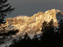 Amanecer de Banff Foto de archivo