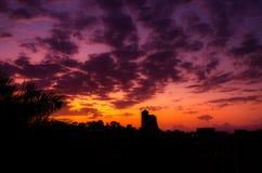 amanecer de la ciudad Fotos de archivo libres de regalías