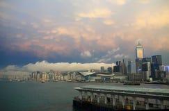 amanecer de la ciudad Imagen de archivo libre de regalías