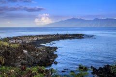 Amanecer de la isla Fotos de archivo