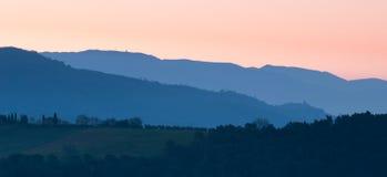Amanecer de la montaña Fotos de archivo libres de regalías