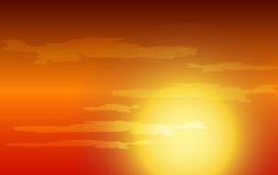 Amanecer de la puesta del sol o de Sun Imágenes de archivo libres de regalías