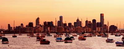 Amanecer de Melbourne Imagen de archivo