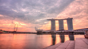 Amanecer de Singapur foto de archivo