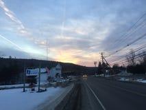 Amanecer de Vermont Fotografía de archivo