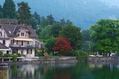 Amanecer del lago lucerne Fotos de archivo libres de regalías