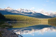 Amanecer del lago patricia Foto de archivo libre de regalías
