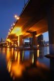 Amanecer del puente de Cambie, vertical de Vancouver Fotografía de archivo