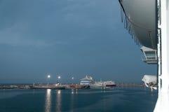 Amanecer del puerto de Palma Foto de archivo