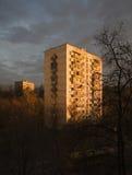 Amanecer en ciudad Fotos de archivo