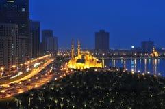 Amanecer en Dubai imagen de archivo