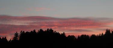 Amanecer en el cielo Imagenes de archivo
