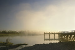 Amanecer en el embarcadero Imagen de archivo