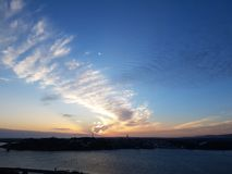amanecer en el estuario Imagen de archivo libre de regalías