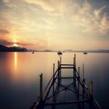 Amanecer en el mar Foto de archivo libre de regalías