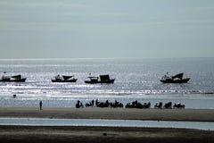Amanecer en el mar de Vanh de la estafa foto de archivo libre de regalías