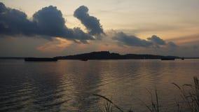 Amanecer en el paseo del punto de Punggol, Singapur Imagen de archivo libre de regalías