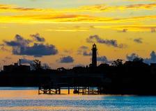 Amanecer en Jupiter Lighthouse Fotografía de archivo
