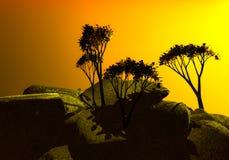 Amanecer en las montañas Fotografía de archivo