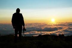 Amanecer en montañas fotos de archivo libres de regalías