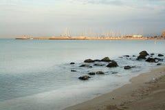 Amanecer en Playa de Palma Imagen de archivo