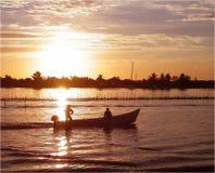 Amanecer en puerto pesquero carribean Fotografía de archivo libre de regalías