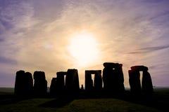 Amanecer en Stonehenge Fotos de archivo