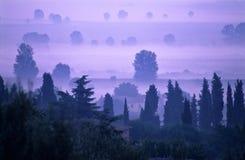 Amanecer en Toscana Foto de archivo