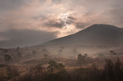 Amanecer escocés Foto de archivo libre de regalías
