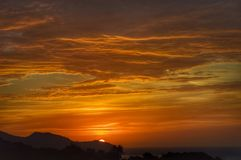 Amanecer et x28 ; Palma de Mallorca - Spain& x29 ; Images libres de droits