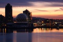 Amanecer falso de la cala, Vancouver Foto de archivo