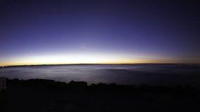 Amanecer falso en el parque provincial de Presqu'ile, el lago Ontario Foto de archivo libre de regalías