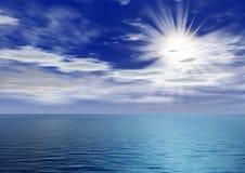 Amanecer sobre el océano stock de ilustración