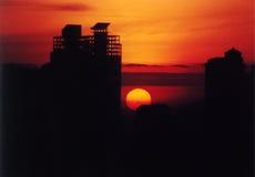 Amanecer sobre Jakarta Imagen de archivo libre de regalías