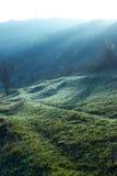 Amanecer sobre la colina Foto de archivo