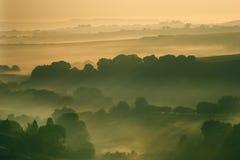 Amanecer sobre la colina de Eggardon Foto de archivo libre de regalías