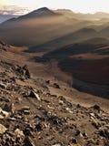 Amanecer volcánico Vert Fotografía de archivo libre de regalías