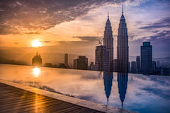 Kuala Lumpur at sunset royalty free stock images