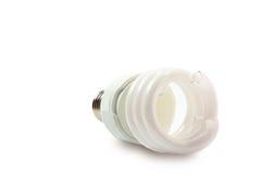 Łamanego lightbulb odosobniony biel Obraz Stock