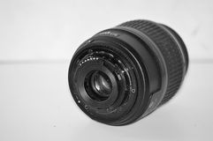 Łamanego obiektywu tylna strona Fotografia Stock