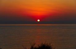 Amanezca en el mar Mediterráneo - una foto 2 Fotografía de archivo libre de regalías