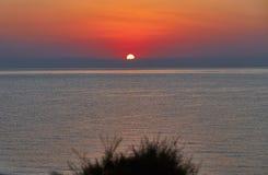 Amanezca en el mar Mediterráneo - una foto 1 Fotografía de archivo