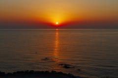 Amanezca en el mar Mediterráneo - una foto 4 Imagen de archivo