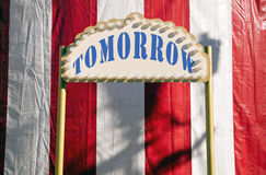 Amanhã sinal Imagem de Stock Royalty Free