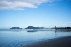 Amanhecer da praia de Jaco Foto de Stock Royalty Free