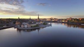 Amanhecer da Suécia de Éstocolmo video estoque