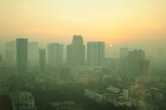 Amanhecer de Hefei China Foto de Stock Royalty Free