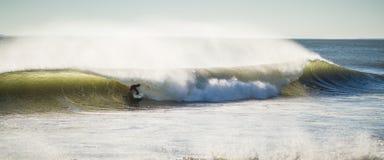 Amanhecer do tambor do surfista imagem de stock