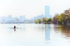 Amanhecer em Boston Imagens de Stock Royalty Free