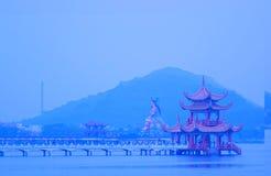 Amanhecer em Lotus Lake Fotografia de Stock